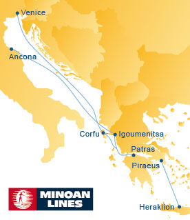 Minoan Lines Route Map