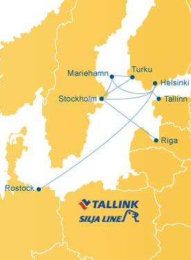 Tallink Ferries Route Map